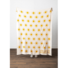 """You Are My Sunshine"" Knit Throw"