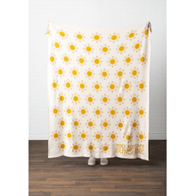 """See Details - """"You Are My Sunshine"""" Knit Throw"""