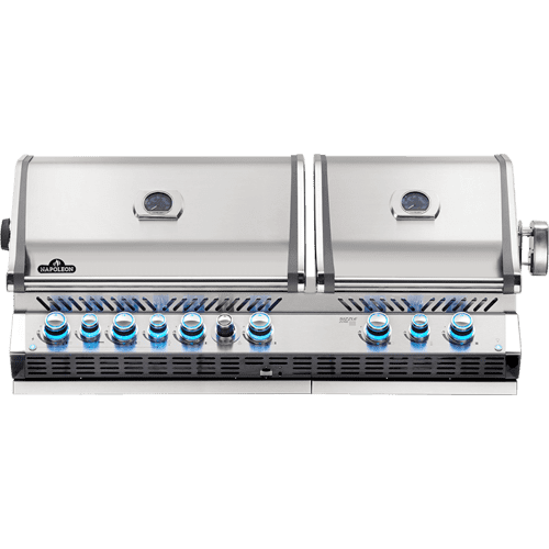 Napoleon BBQ - Built-in Prestige PRO 825 RBI Infrared Bottom & Rear Burners , Stainless Steel , Natural Gas