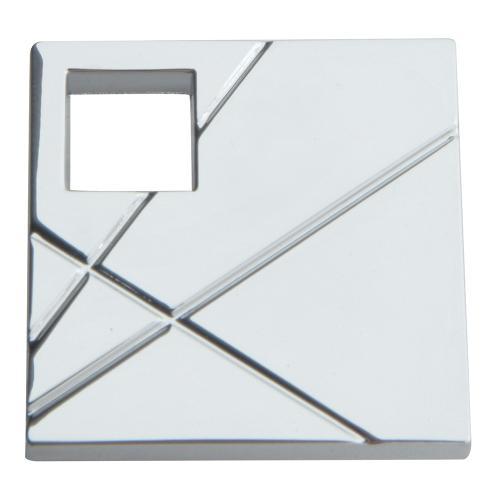 Atlas Homewares - Modernist Right Square Knob 1 1/2 Inch - Polished Chrome