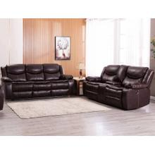 8005 BROWN 2PC Air Leather Power Recliner & USB Sofa SET