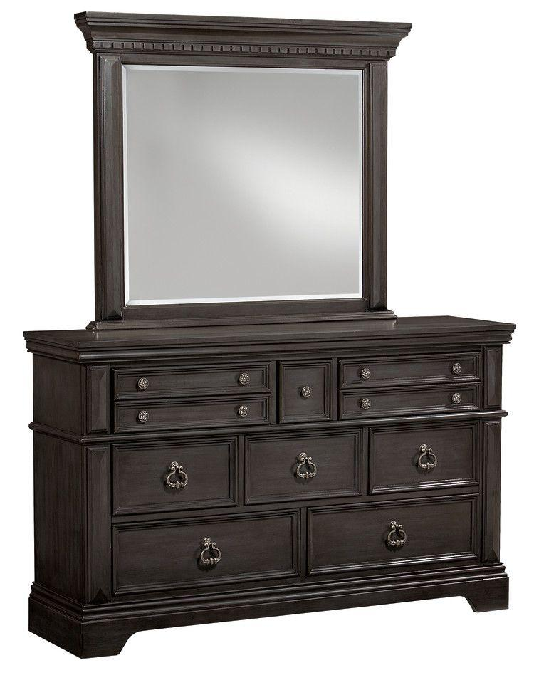 Garrison Mirror, Grey