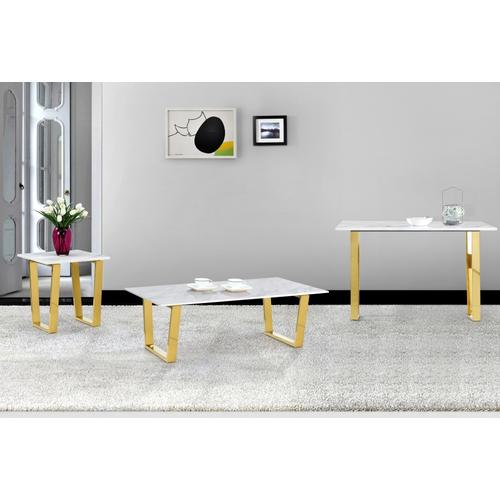 """Cameron Gold Coffee table - 48"""" W x 24"""" D x 16"""" H"""
