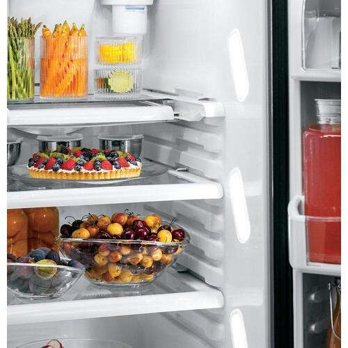 GE Profile - GE Profile™ Series ENERGY STAR® 25.4 Cu. Ft. Side-by-Side Refrigerator