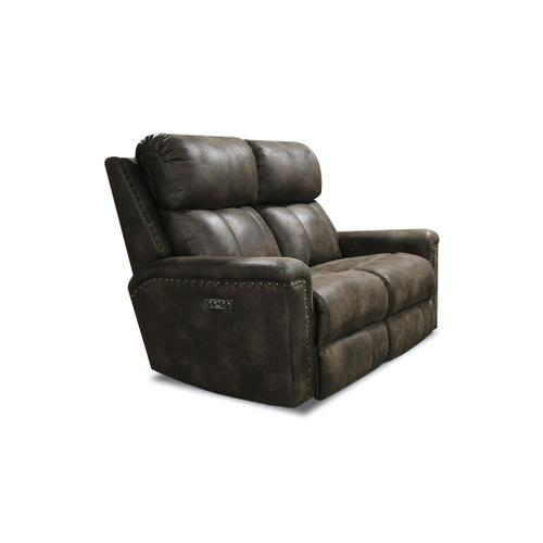 V1C03N Double Reclining Loveseat with Nails