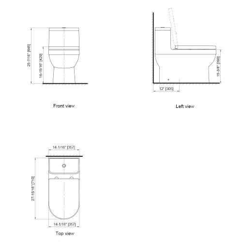 Axent Bath - Dune II One-Piece Toilet W589-1131-U1  AXENT
