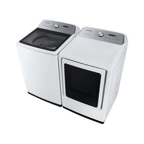 Samsung - 7.4 cu. ft. Smart Electric Dryer with Steam Sanitize+ in White