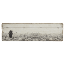 Lonely Bison Horizontal Wall Decor