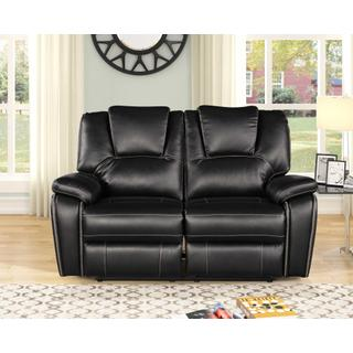 See Details - 8087 BLACK Power Recliner Air Leather Loveseat
