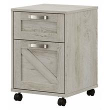 Cottage Grove 2 Drawer Mobile File Cabinet - Cottage White