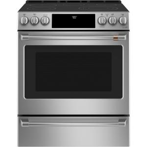 "Cafe30"" Smart Slide-In, Front-Control, Radiant and Convection Range"