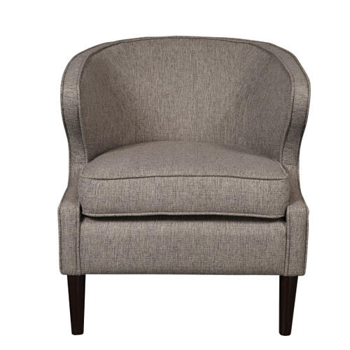 Modern Shelter Back Grey Polyester Accent Chair