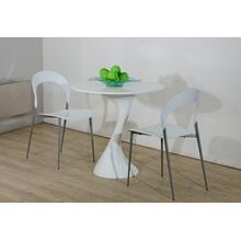 Modrest Twist White Lacquer Round Dining Table