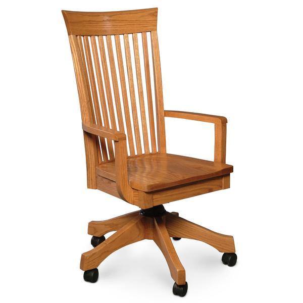 Loft Arm Desk Chair, Fabric Cushion Seat