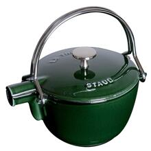 Staub Cast Iron 1-qt Round Tea Kettle, Basil