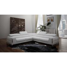 Divani Casa Metz Modern White Bonded Leather Sectional Sofa
