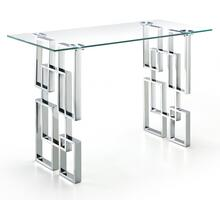 "See Details - Alexis Chrome End Table - 48"" W x 14"" D x 30"" H"