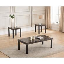 6688 3PC Faux Marble Top Table SET