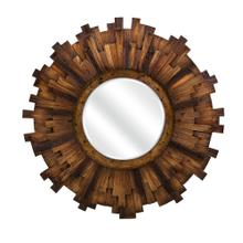 Barclay Round Wood Mirror