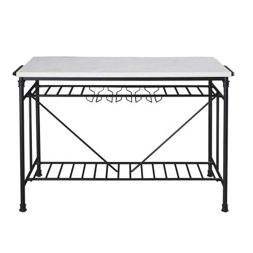 Steve Silver Co. - Claire White Marble Kitchen Island