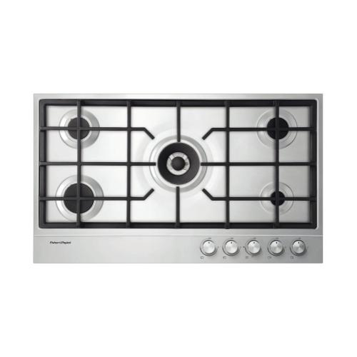 """Fisher & Paykel - NG Gas on Steel Cooktop 36"""" 5 Burner"""