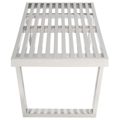 Modway - Sauna 4' Stainless Steel Bench in Silver