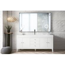 "Linear 72"" Single Bathroom Vanity, Glossy White"