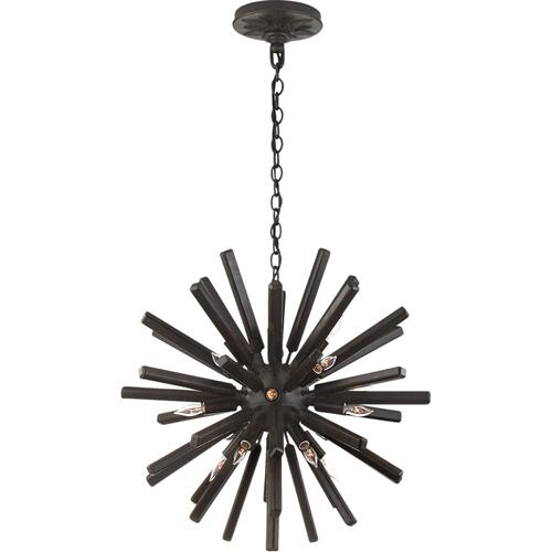 Visual Comfort CHC3111AI E. F. Chapman Lawrence 20 Light 20 inch Aged Iron Sputnik Chandelier Ceiling Light
