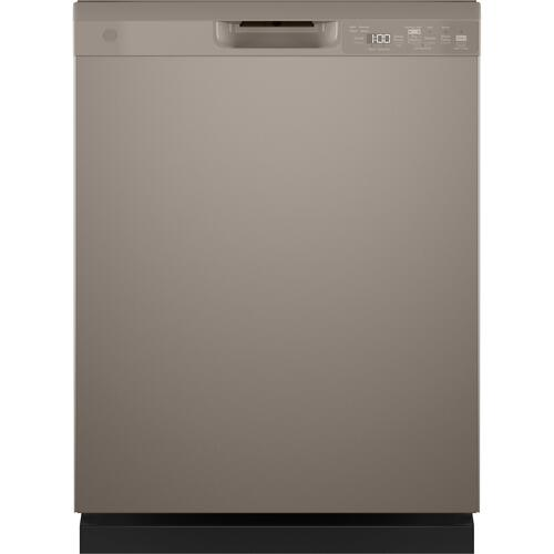 GE Appliances - GE® Front Control with Plastic Interior Dishwasher with Sanitize Cycle & Dry Boost