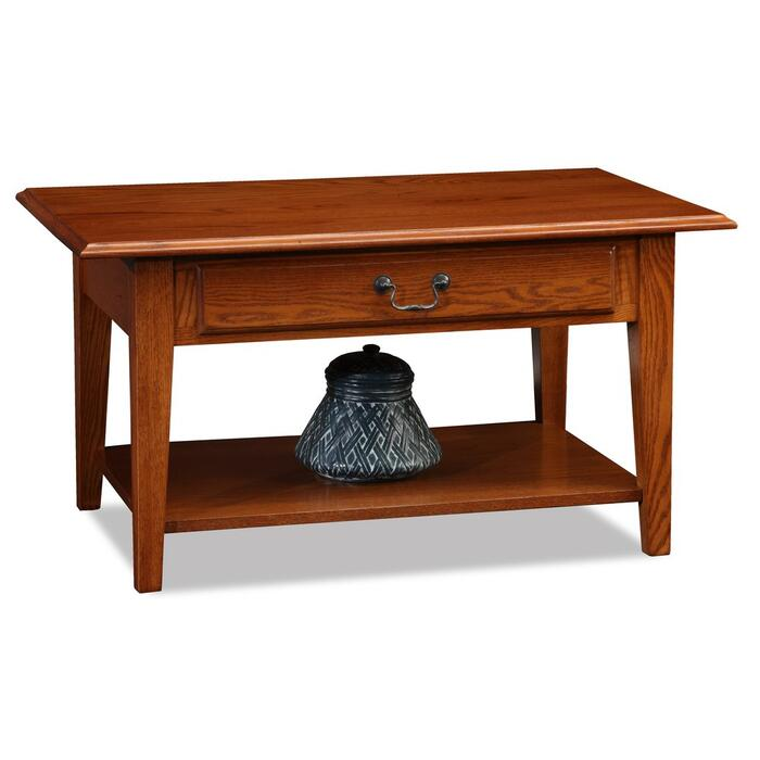 Shaker Solid Oak Drawer Coffee Table #10029-MED