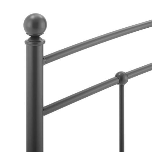 Modway - Abigail Queen Metal Headboard in Gray