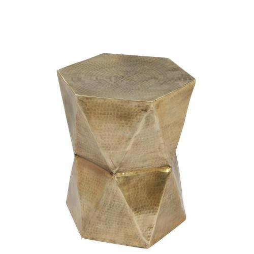 Side Table - Hammered Gold Finish