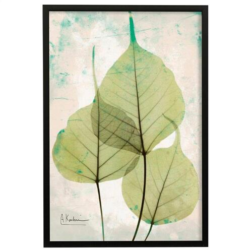 Style Craft - Stoned Bo Tree  Made in USA  Artist Print  Faux Wood Frame Under Glass  Attached Hanging Hardwar