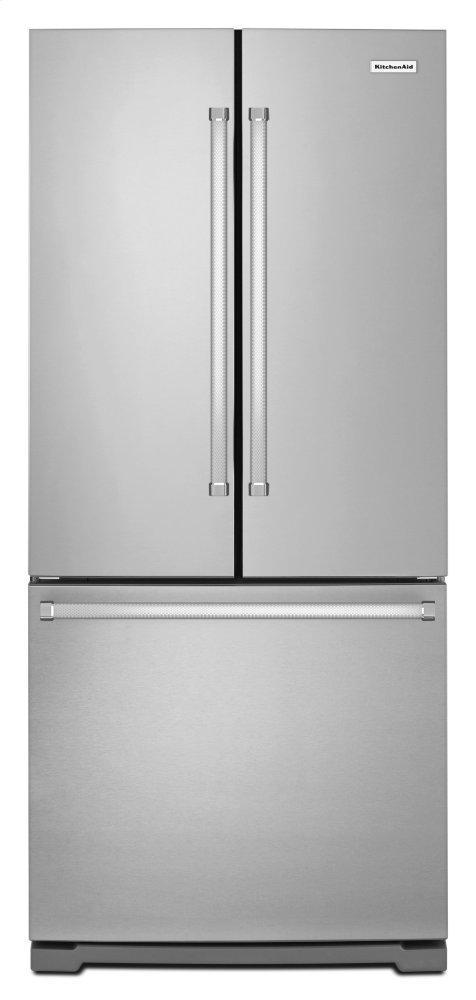 Kitchenaid20 Cu. Ft. 30-Inch Width Standard Depth French Door Refrigerator With Interior Dispense - Stainless Steel