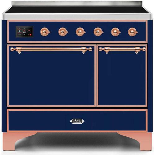 Majestic II 40 Inch Electric Freestanding Range in Blue with Copper Trim