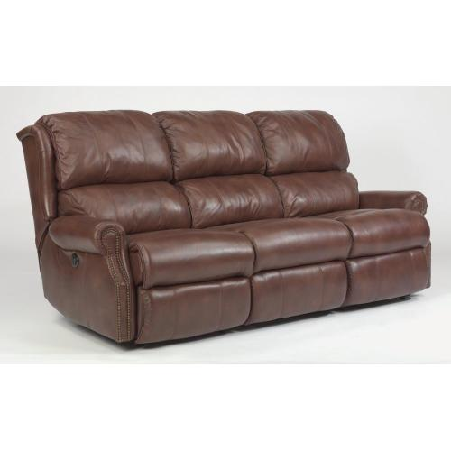 Product Image - Comfort Zone Leather Power Reclining Sofa