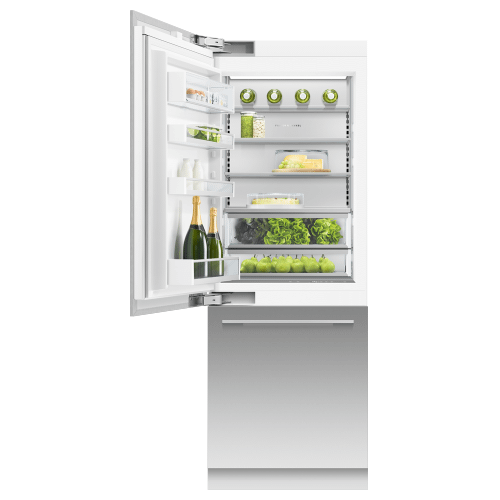 """Fisher & Paykel - Integrated Refrigerator Freezer, 30"""", Ice & Water"""