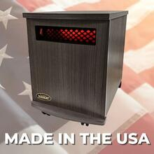 View Product - Original SUNHEAT USA1500-M Infrared Heater - Charcoal Walnut