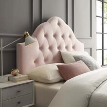 Sovereign King Diamond Tufted Performance Velvet Headboard in Pink