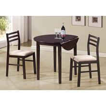 "DINING SET - 3PCS SET / 36""DIA / ESPRESSO W/ DROP LEAF"