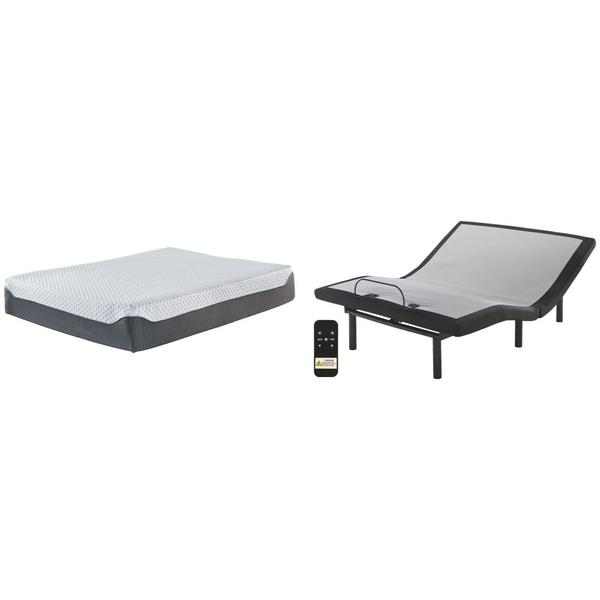 See Details - 12 Inch Chime Elite Queen Adjustable Base With Mattress