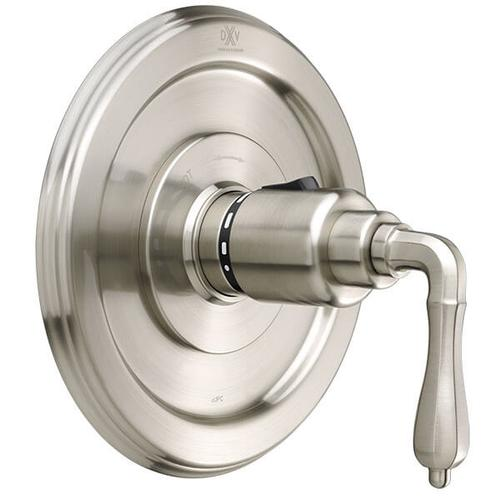 Dxv - Ashbee 1/2 Inch or 3/4 Inch Thermostatic Valve Trim with Lever Handles - Brushed Nickel