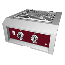 Hestan Panel, Control, Power Burner, Burgundy/tin Roof