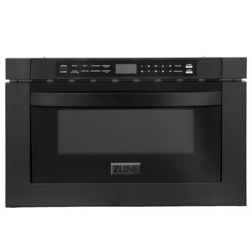 """ZLINE 24"""" 1.2 cu. ft. Microwave Drawer in Stainless Steel & Black Stainless Steel (MWD-1) [Color: Stainless Steel]"""