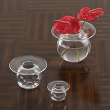H2O Vase-Clear-Lg