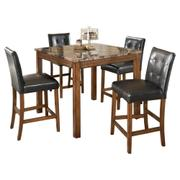 Theo Counter Height Dining Room Table and Bar Stools (set of 5) Product Image