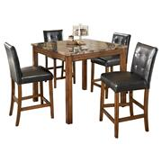 Theo Counter Height Dining Table and Bar Stools (set of 5) Product Image