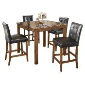 Theo Counter Height Dining Table and Bar Stools (set of 5)