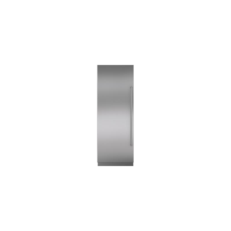 "Integrated Stainless Steel 30"" Column Door Panel with Pro Handle - Left Hinge"