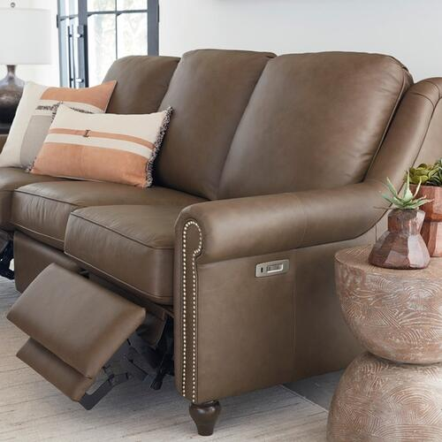 Bassett Furniture - Motion Reclining Leather Sofa